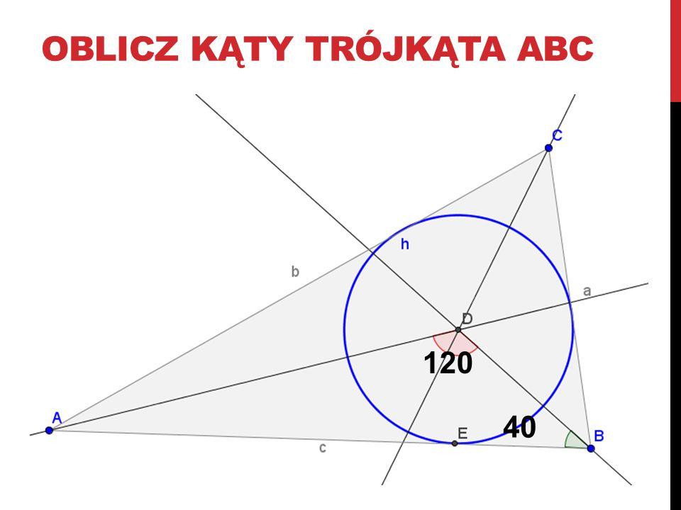 oblicz kąty trójkąta AbC