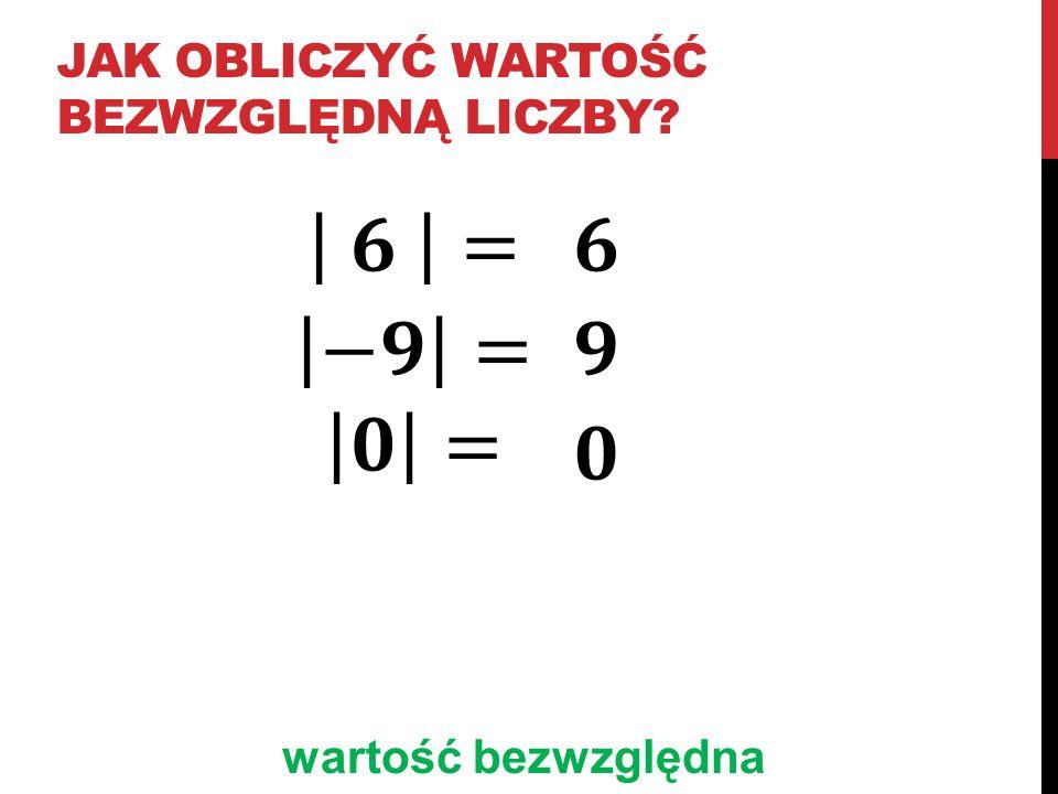Jak obliczyć wartość bezwzględną liczby
