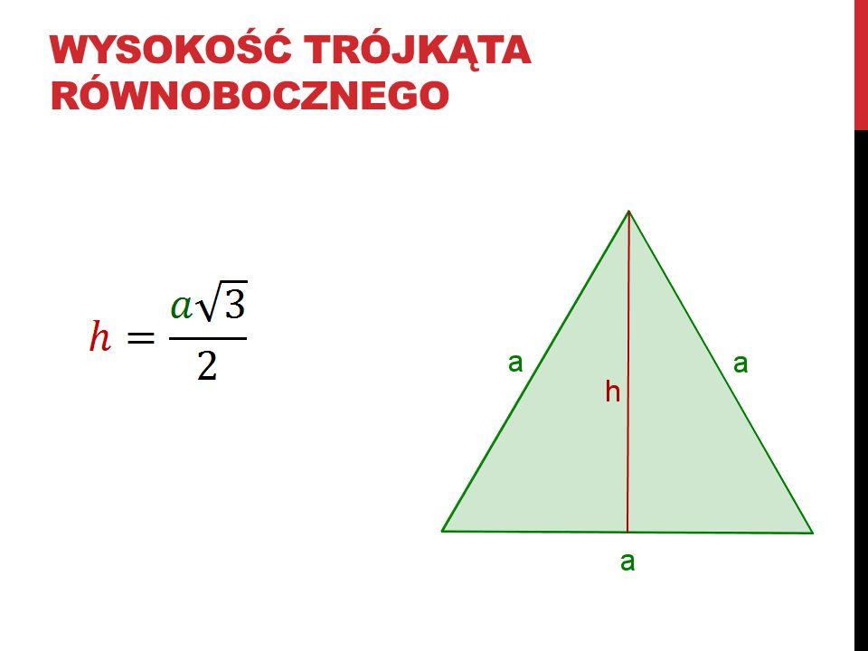 Wysokość trójkąta równobocznego