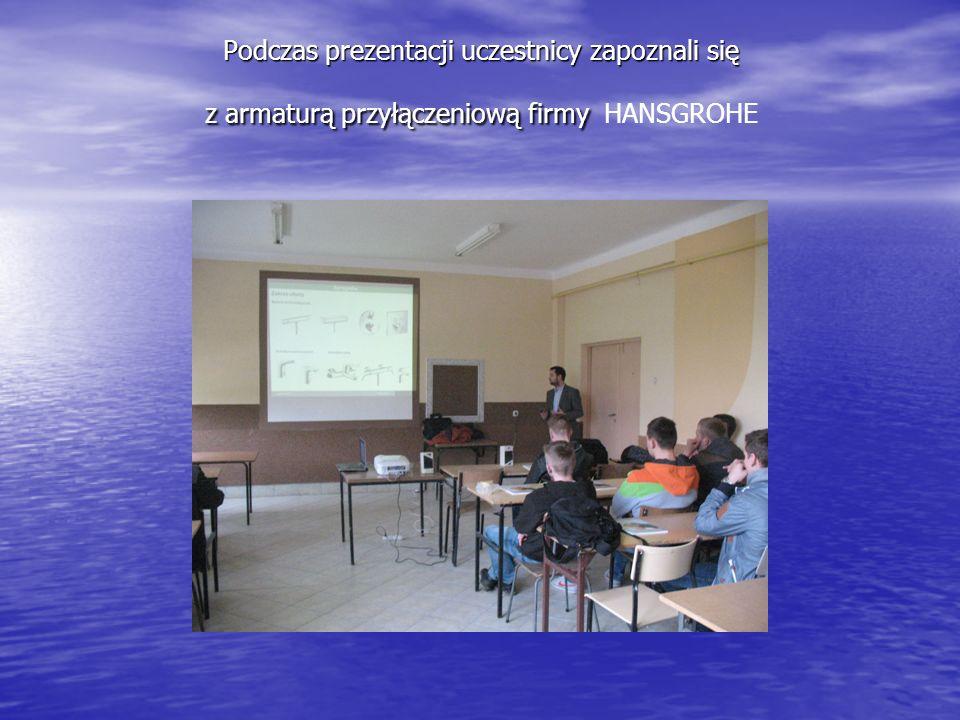 Podczas prezentacji uczestnicy zapoznali się z armaturą przyłączeniową firmy HANSGROHE