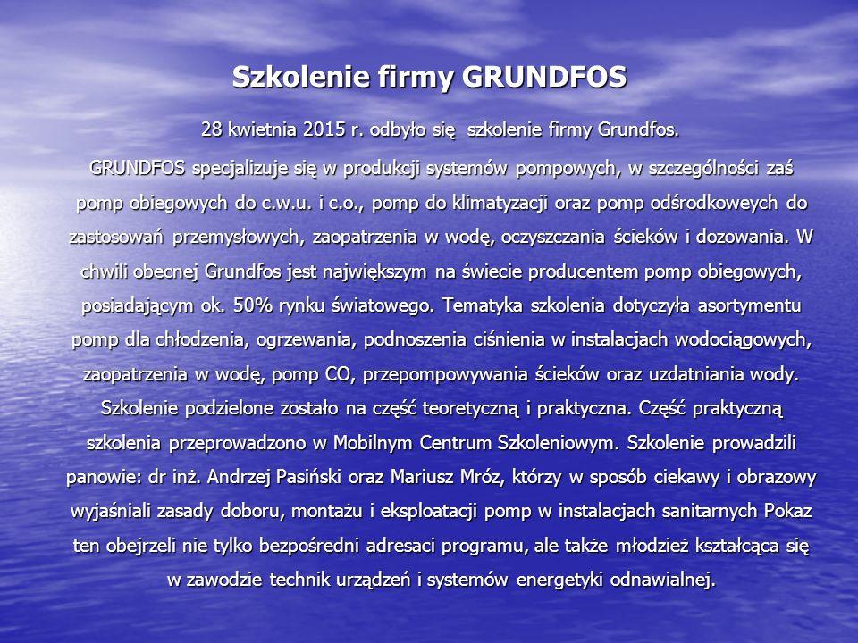 Szkolenie firmy GRUNDFOS