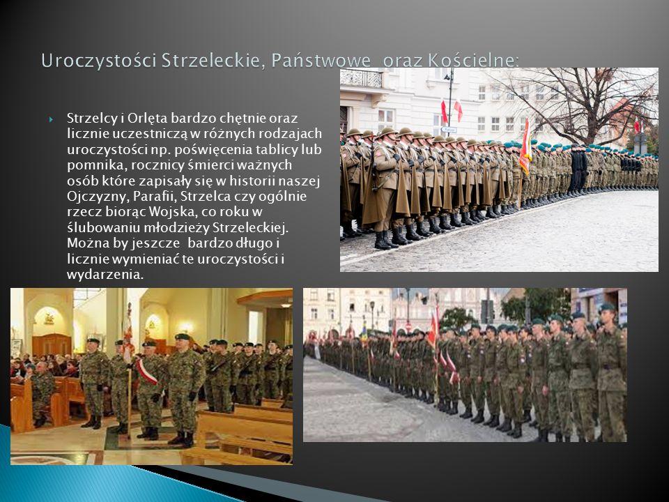 Uroczystości Strzeleckie, Państwowe oraz Kościelne:
