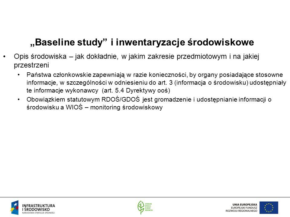 """""""Baseline study i inwentaryzacje środowiskowe"""