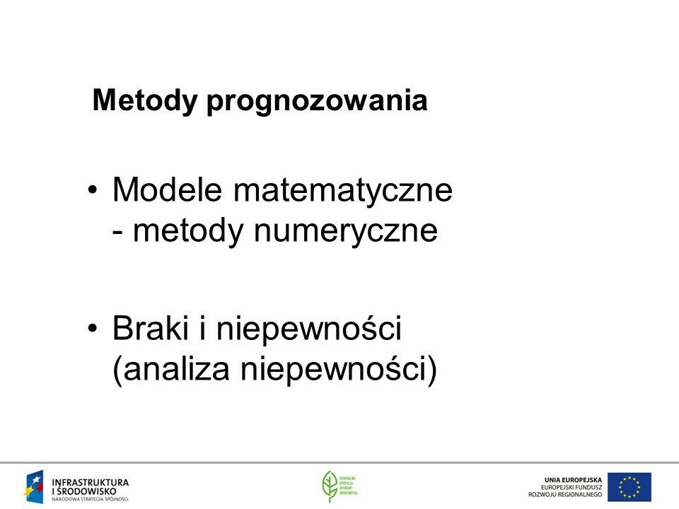 Modele matematyczne - metody numeryczne