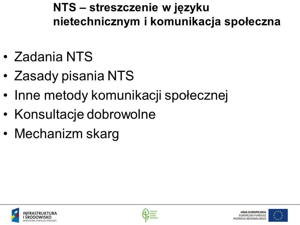 NTS – streszczenie w języku nietechnicznym i komunikacja społeczna