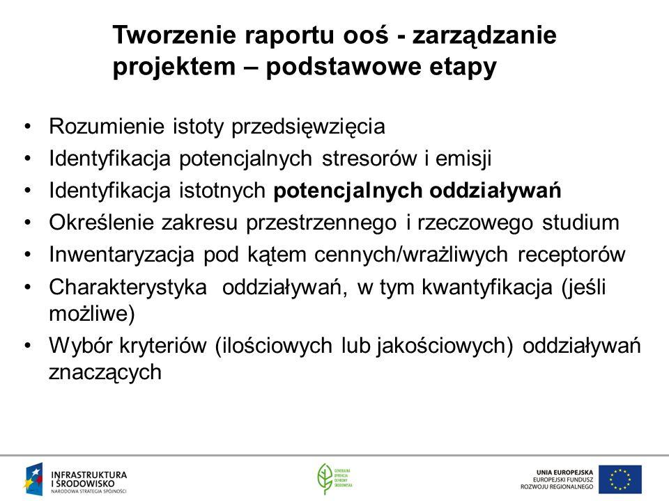 Tworzenie raportu ooś - zarządzanie projektem – podstawowe etapy