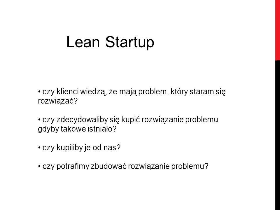 Lean Startup czy klienci wiedzą, że mają problem, który staram się rozwiązać