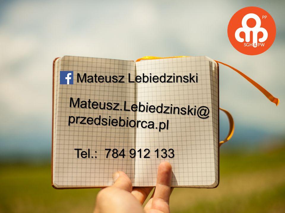 Mateusz.Lebiedzinski@ przedsiebiorca.pl