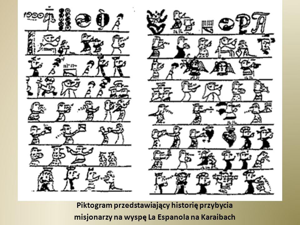 Piktogram przedstawiający historię przybycia