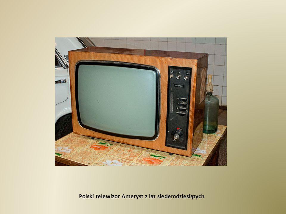 Polski telewizor Ametyst z lat siedemdziesiątych