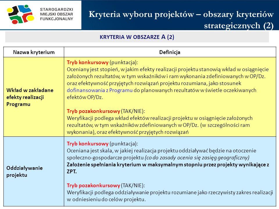 KRYTERIA W OBSZARZE A (2)