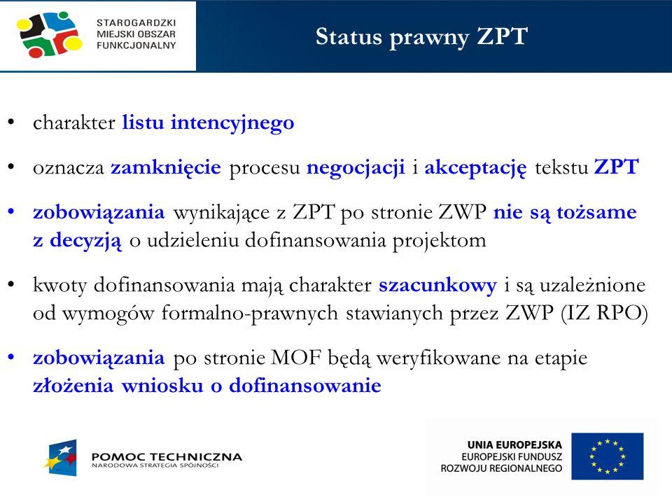 Status prawny ZPT charakter listu intencyjnego