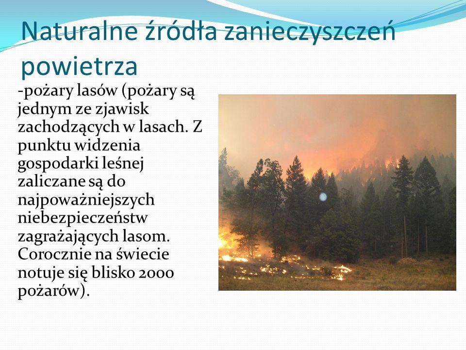 Naturalne źródła zanieczyszczeń powietrza