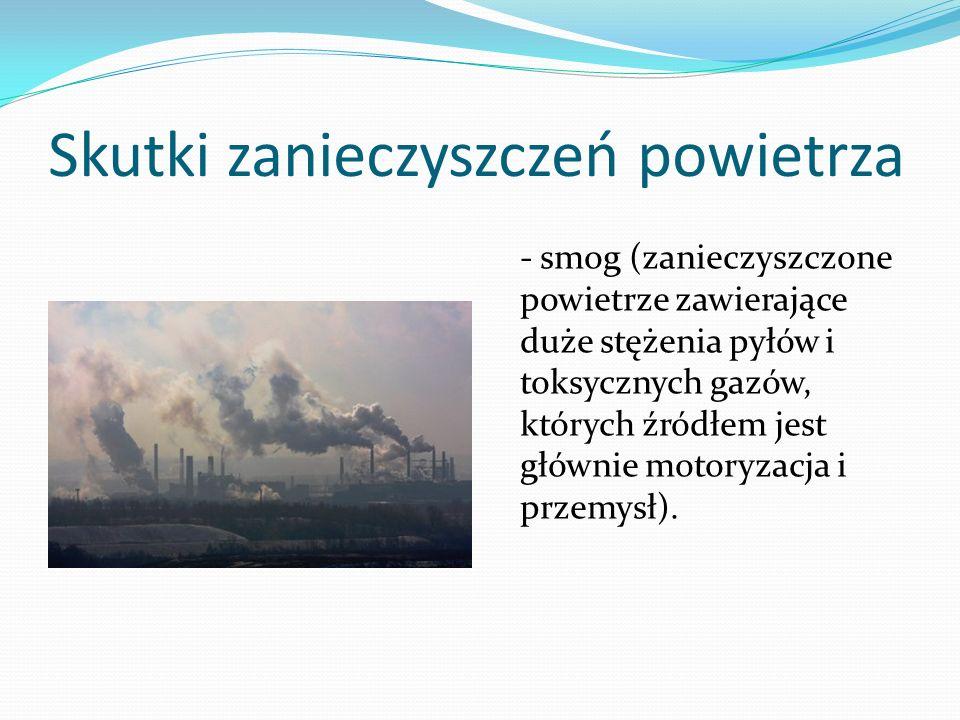 Skutki zanieczyszczeń powietrza
