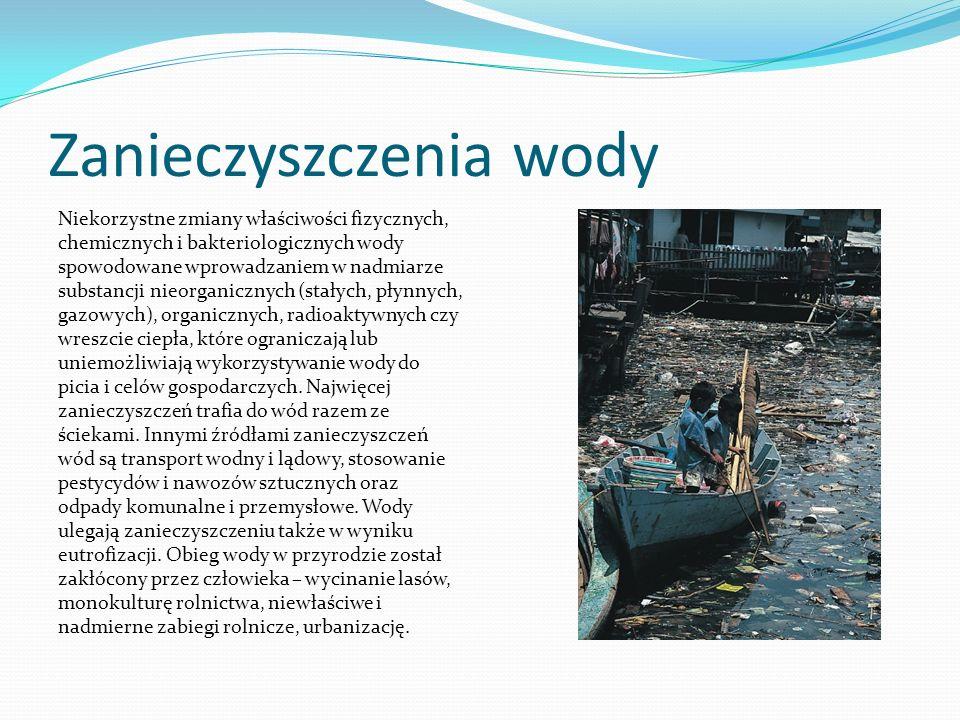 Zanieczyszczenia wody