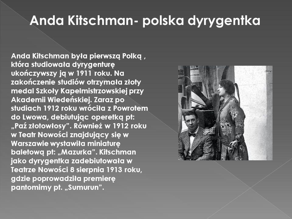 Anda Kitschman- polska dyrygentka