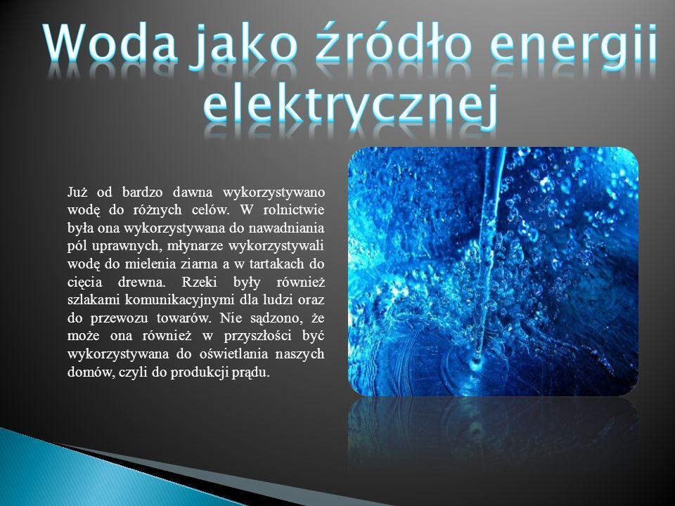 Woda jako źródło energii elektrycznej