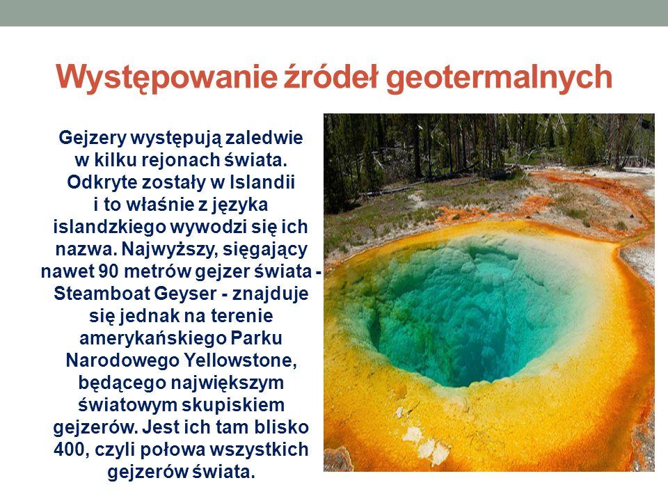 Występowanie źródeł geotermalnych