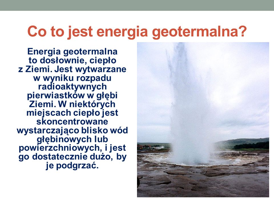 Co to jest energia geotermalna