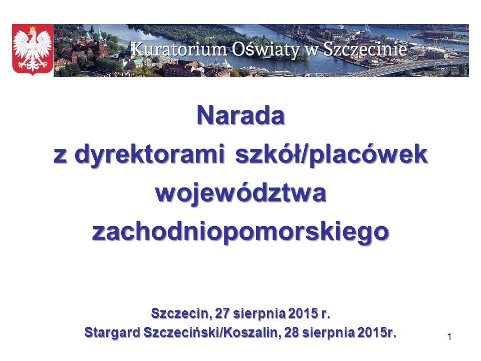 Narada z dyrektorami szkół/placówek województwa zachodniopomorskiego