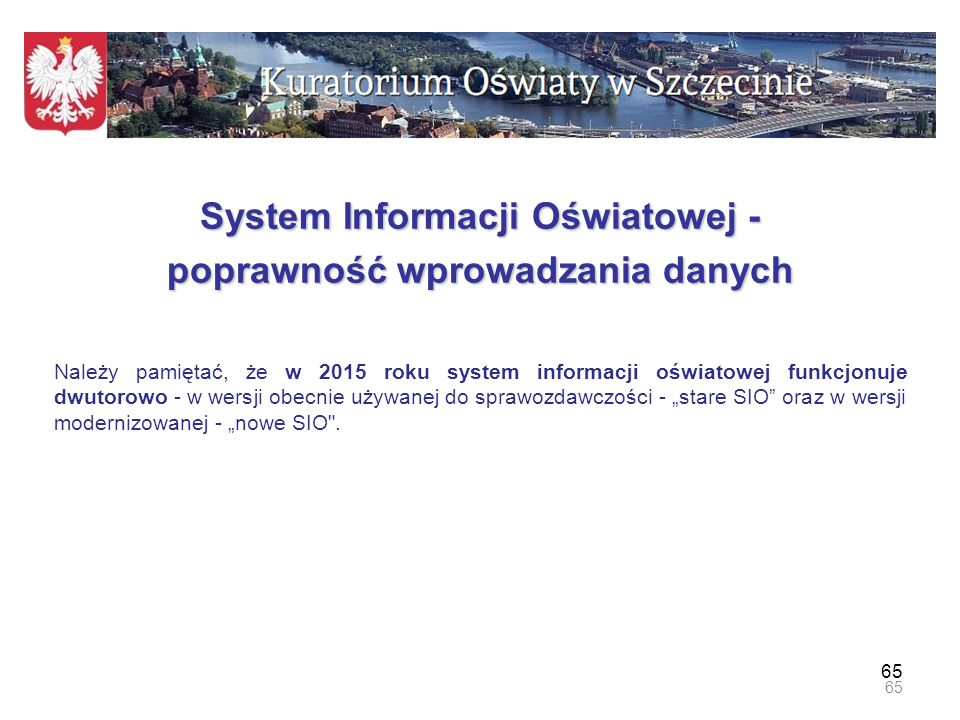 System Informacji Oświatowej - poprawność wprowadzania danych