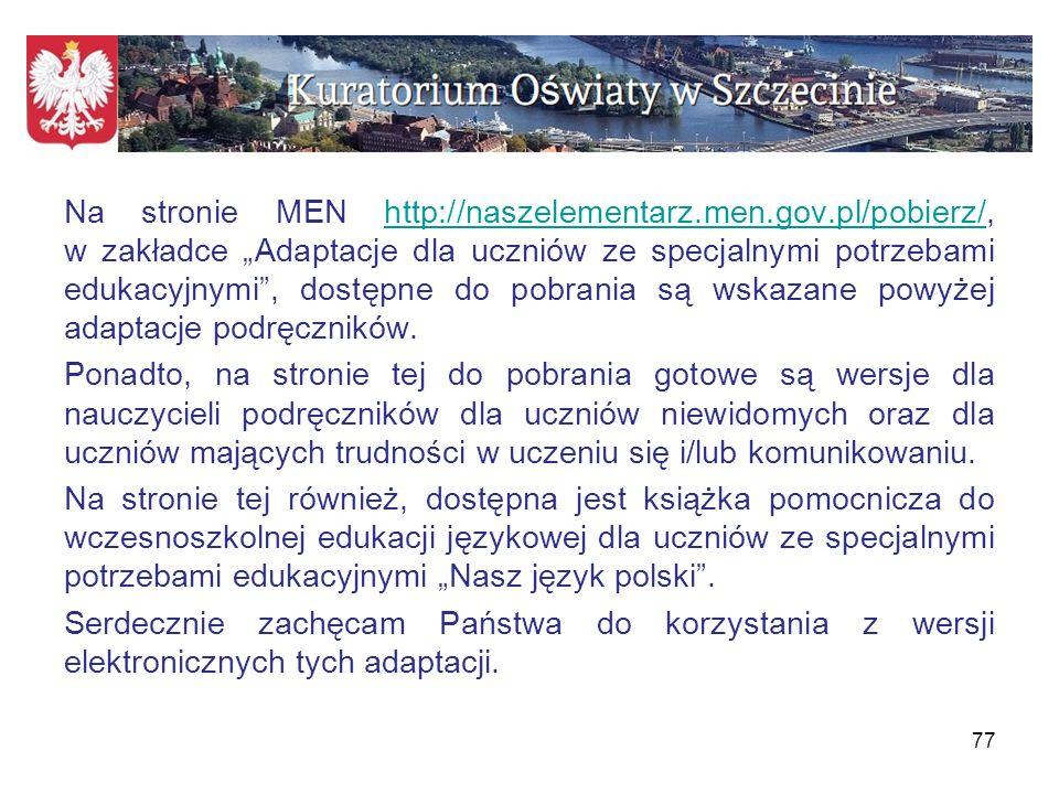 Na stronie MEN http://naszelementarz. men. gov