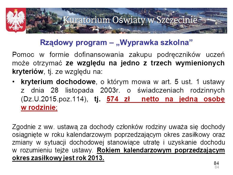 """Rządowy program – """"Wyprawka szkolna"""