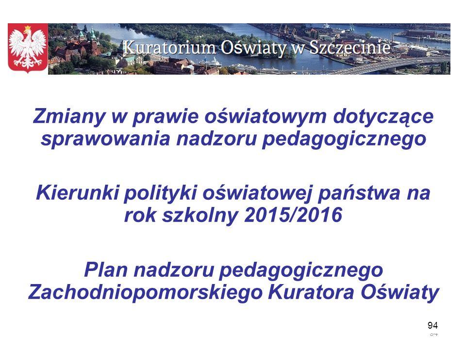 Kierunki polityki oświatowej państwa na rok szkolny 2015/2016