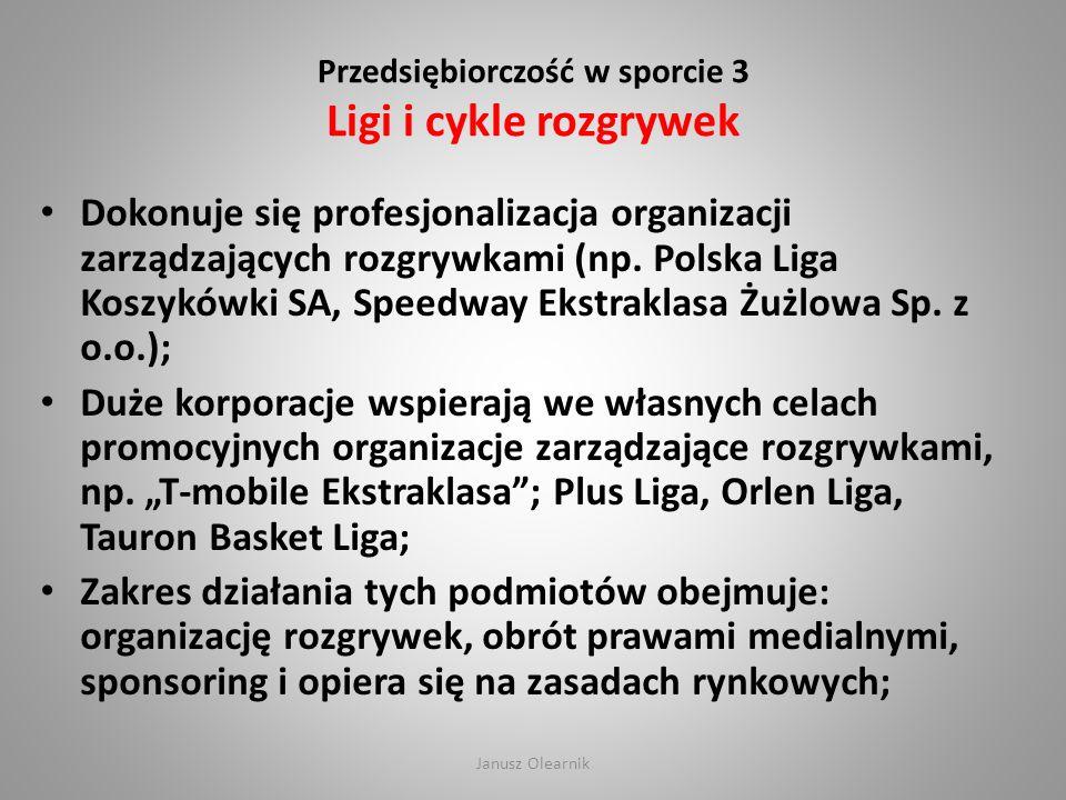 Przedsiębiorczość w sporcie 3 Ligi i cykle rozgrywek