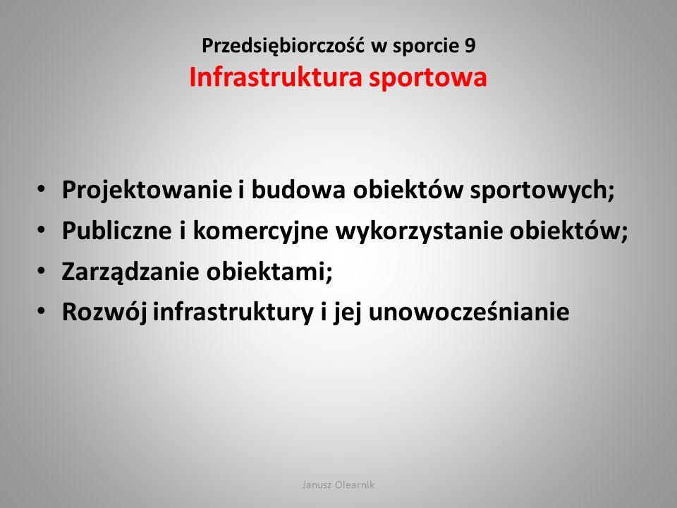 Przedsiębiorczość w sporcie 9 Infrastruktura sportowa