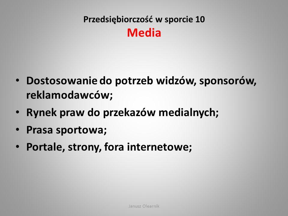Przedsiębiorczość w sporcie 10 Media