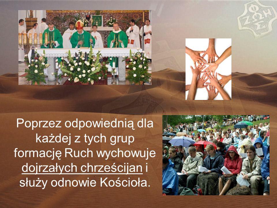 Poprzez odpowiednią dla każdej z tych grup formację Ruch wychowuje dojrzałych chrześcijan i służy odnowie Kościoła.