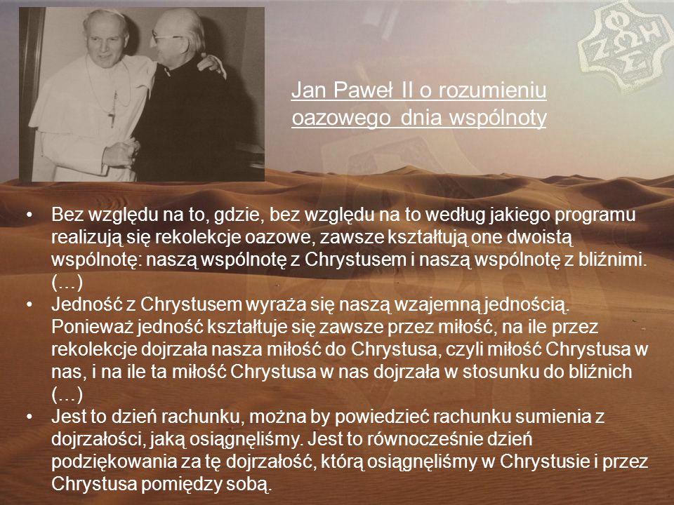 Jan Paweł II o rozumieniu oazowego dnia wspólnoty