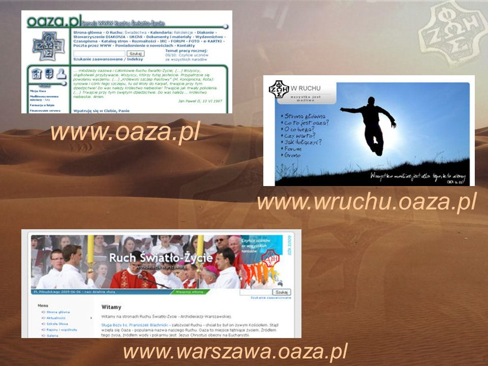 www.oaza.pl www.wruchu.oaza.pl www.warszawa.oaza.pl