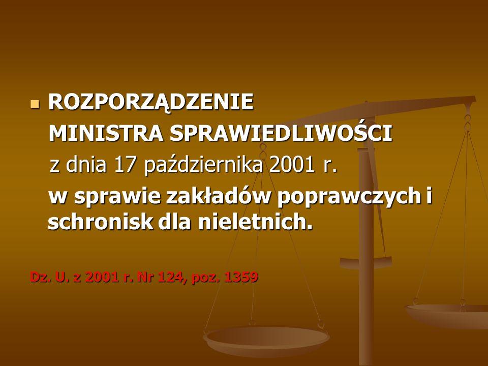 MINISTRA SPRAWIEDLIWOŚCI z dnia 17 października 2001 r.