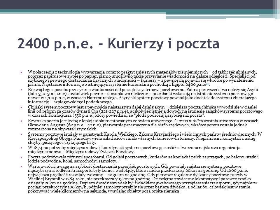 2400 p.n.e. - Kurierzy i poczta
