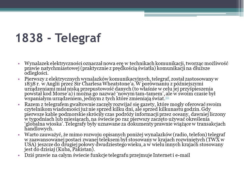 1838 - Telegraf