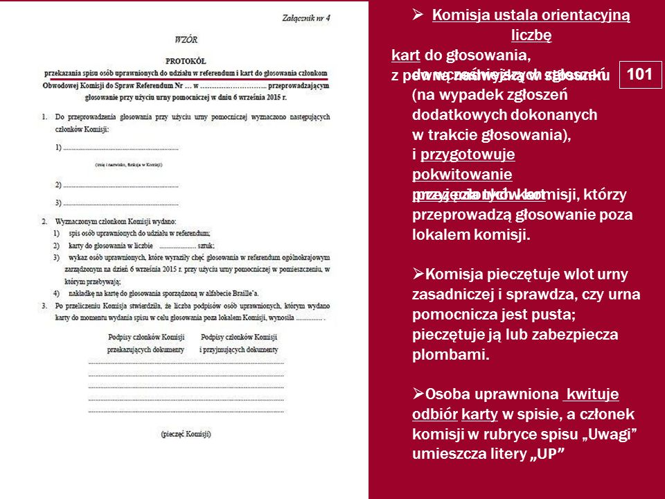 Komisja ustala orientacyjną liczbę