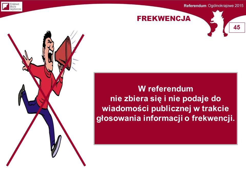FREKWENCJA 45. W referendum.