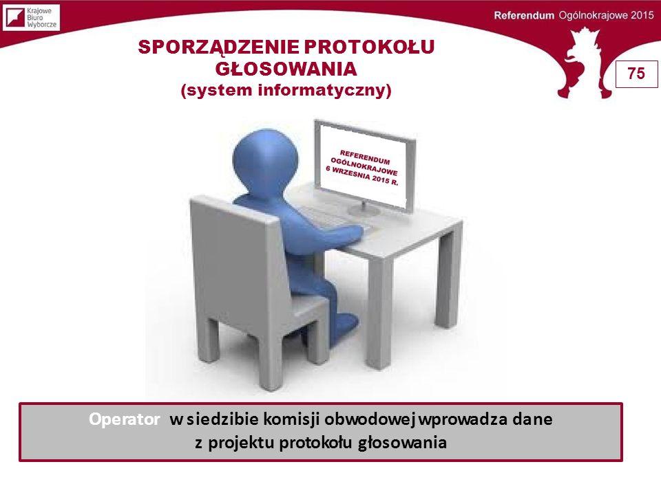 SPORZĄDZENIE PROTOKOŁU GŁOSOWANIA (system informatyczny)
