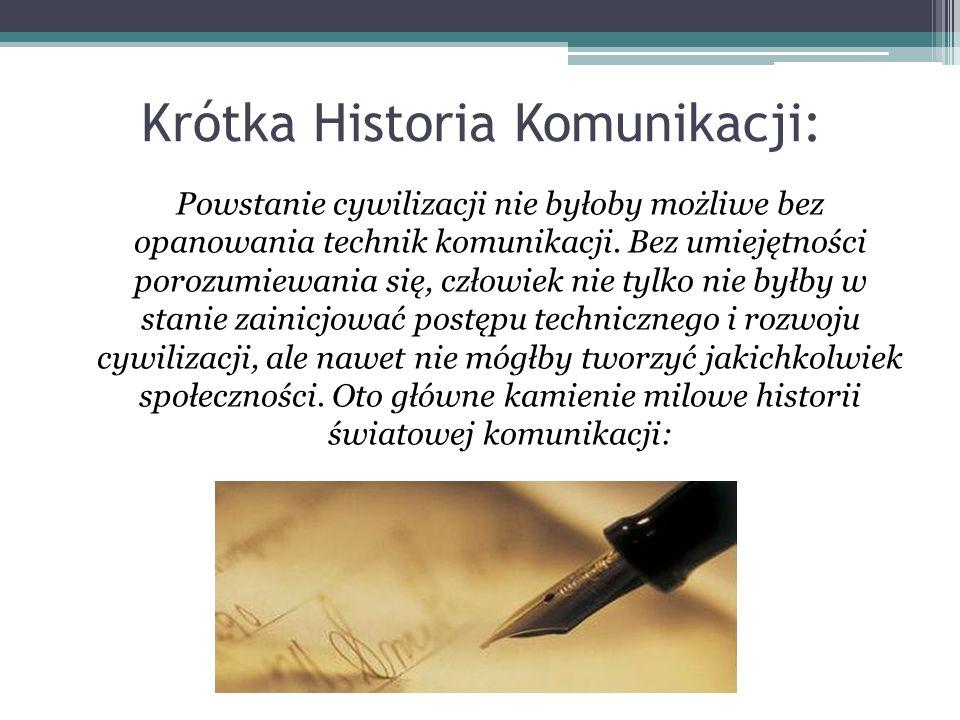 Krótka Historia Komunikacji: