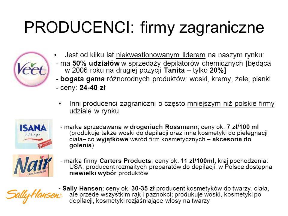 PRODUCENCI: firmy zagraniczne