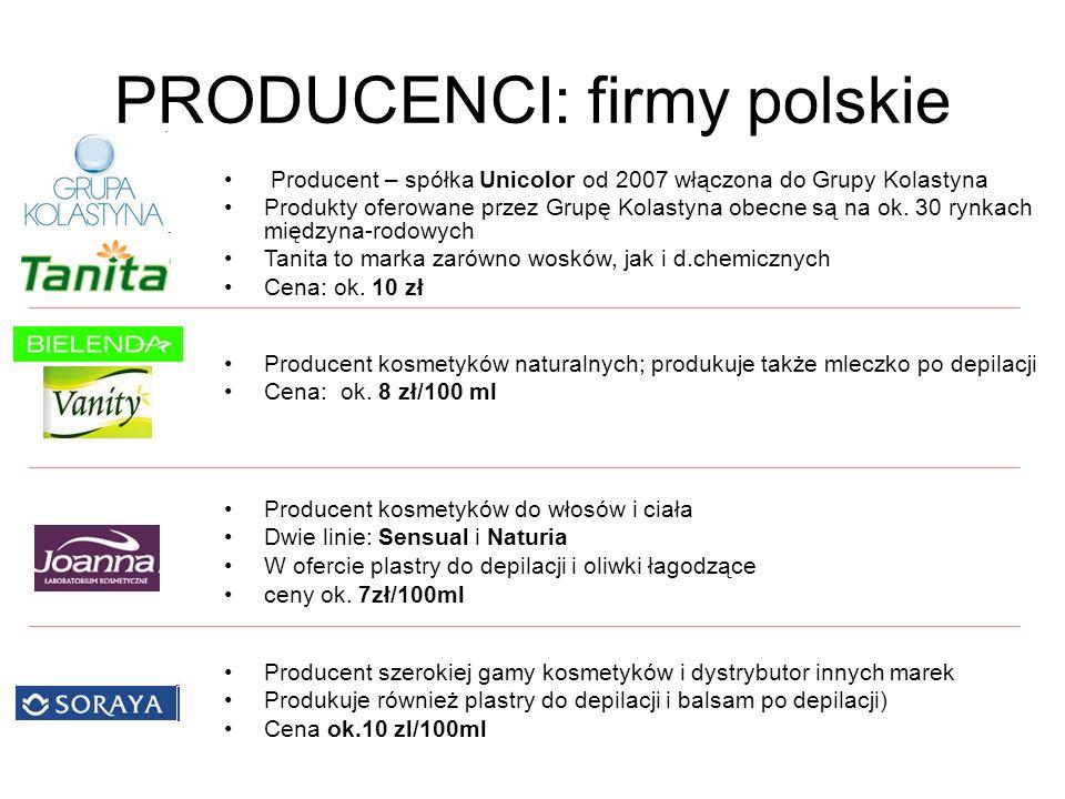PRODUCENCI: firmy polskie