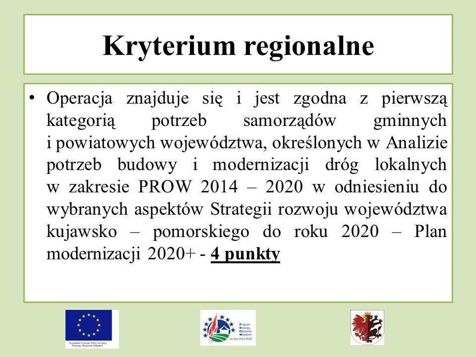 Kryterium regionalne
