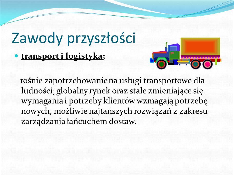 Zawody przyszłości transport i logistyka;