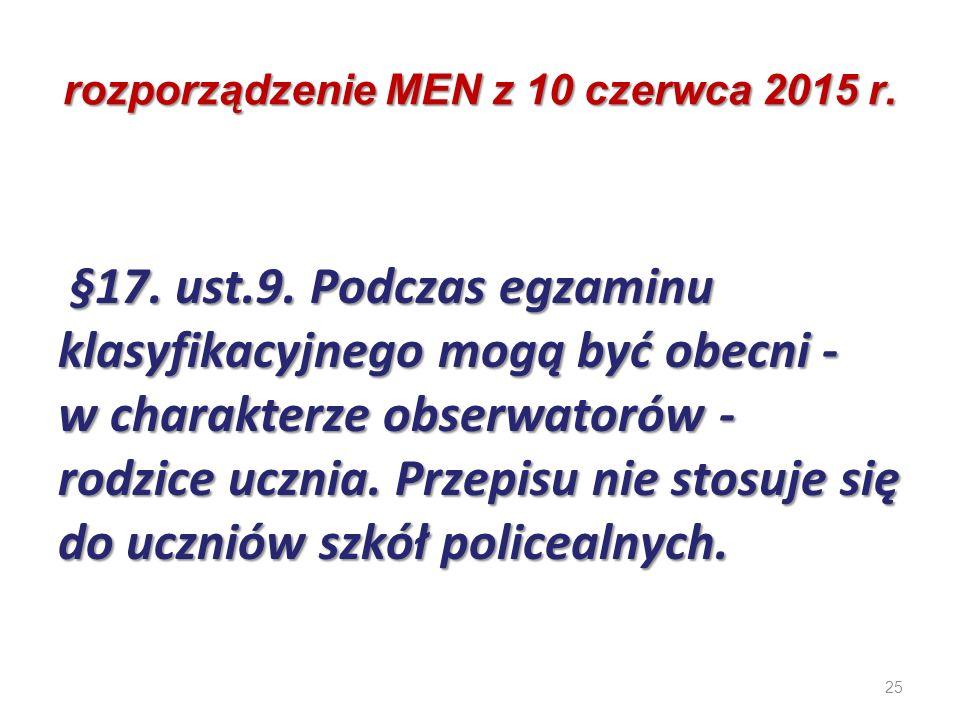 rozporządzenie MEN z 10 czerwca 2015 r.