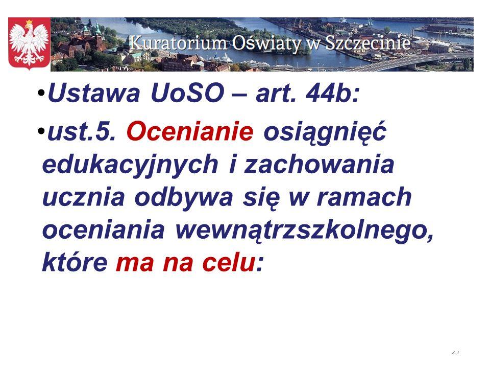 Ustawa UoSO – art. 44b: