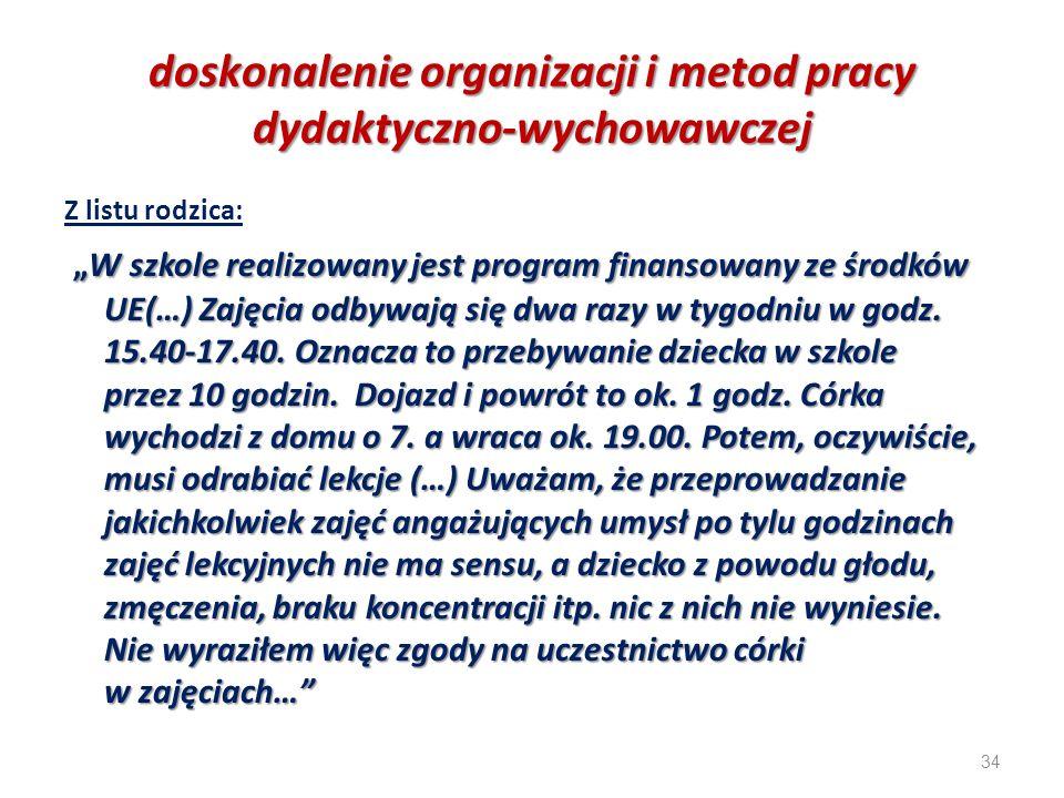 doskonalenie organizacji i metod pracy dydaktyczno-wychowawczej
