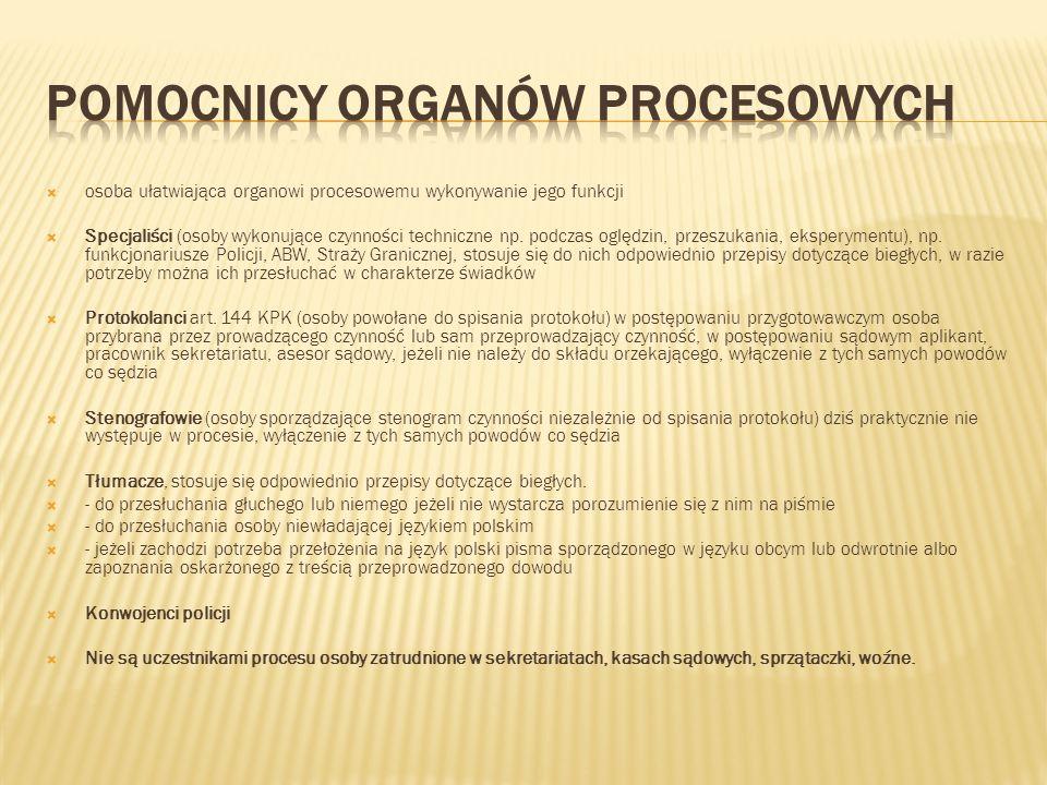 Pomocnicy organów procesowych