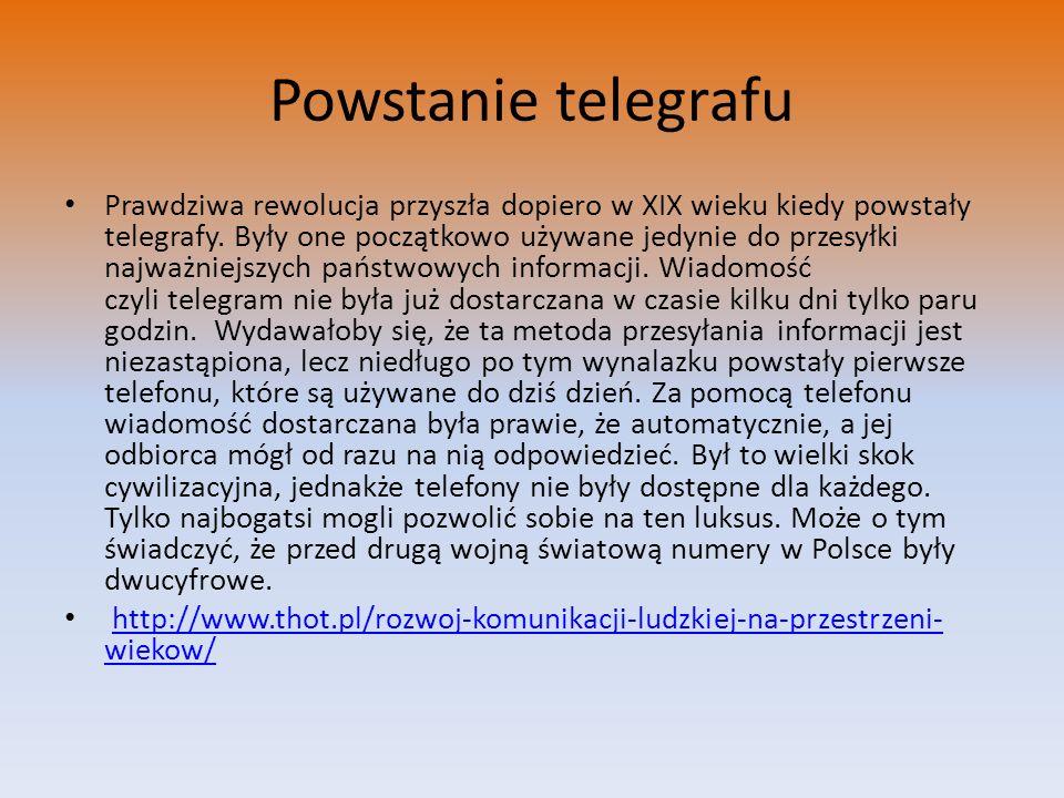 Powstanie telegrafu